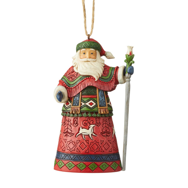 Lapland Red Reindeer Santa Ornament