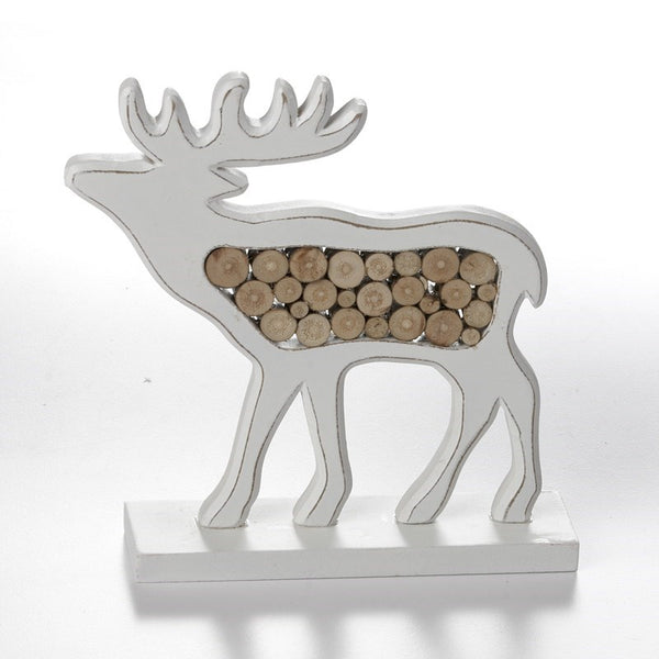 Standing Wooden Moose/Stag Decor