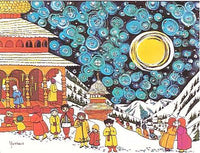 Christmas Eve in the Carpathian Mountains Yaroslava Surmach Mills Card