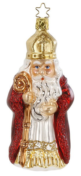 St. Nikolaus  German Blown Glass  Ornament