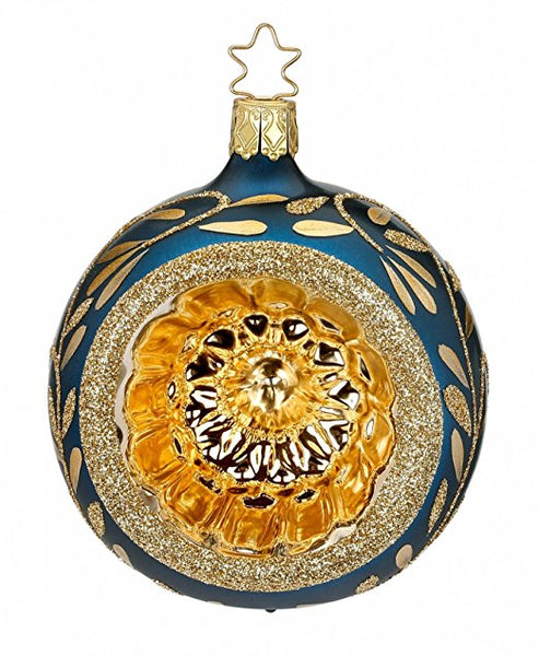 Reflector Ball Vintage Lightness Royal Blue German Glass Ornament
