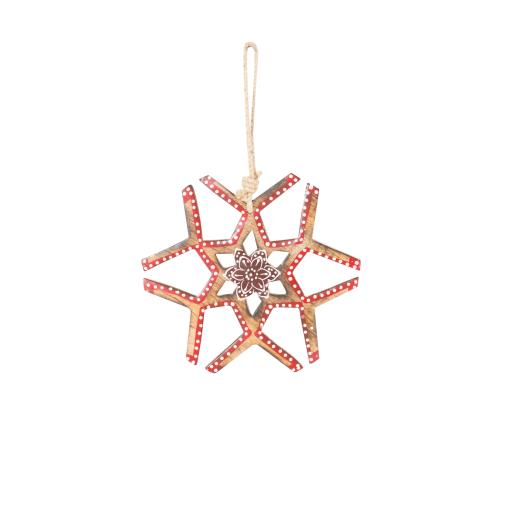 Wooden Hanging Stars