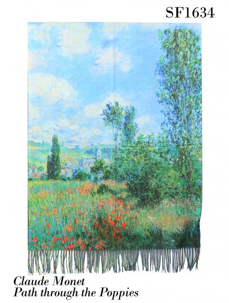 Oil Painting Design Fashion Scarf and Shawl