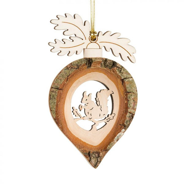 Squirrel Rain Drop Bark Ornament