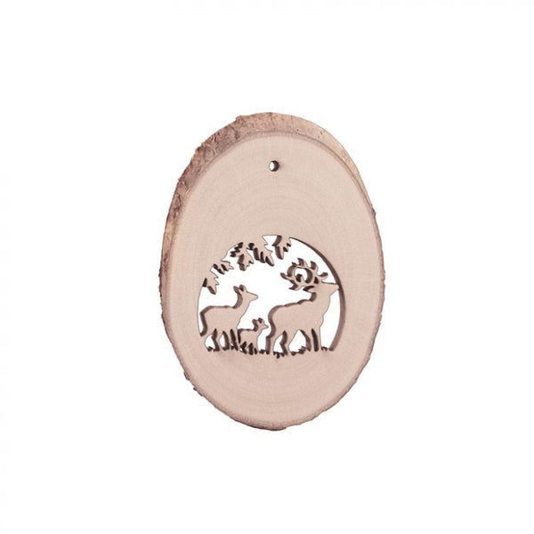 Birch Wood  Locket 1 Ornament