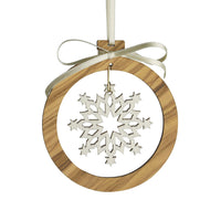 Laser Cut Olive Wood Ornaments
