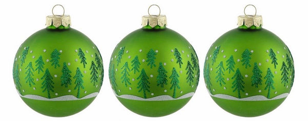 Glass Christmas Bulb Set