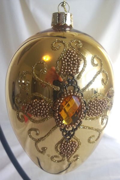 Golden Glass Christmas Ornaments