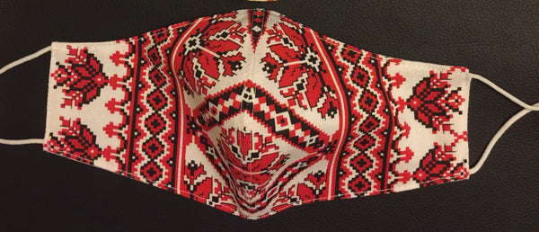 Ukrainian Embroidered Print  Facemask
