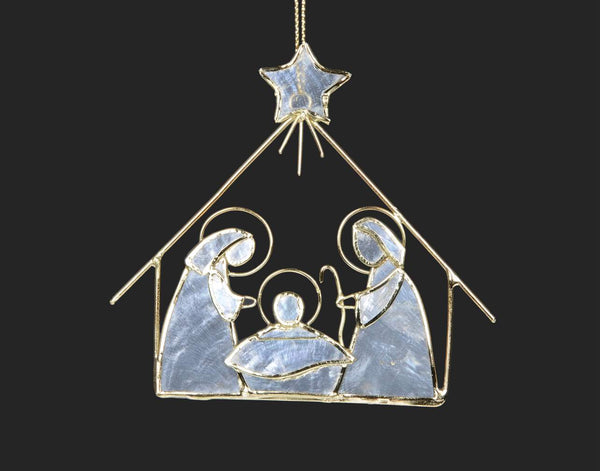Capiz Nativity Ornament