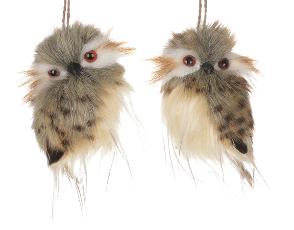Brown and Grey Owl Ornaments