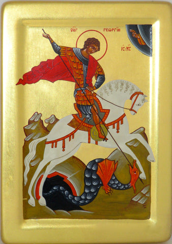 Icon  St. George slaying the dragon