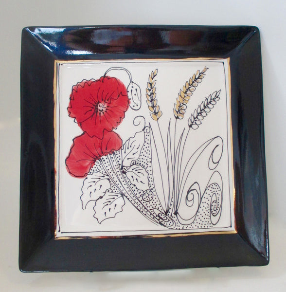 "Now and Zen 10"" Square Plate"