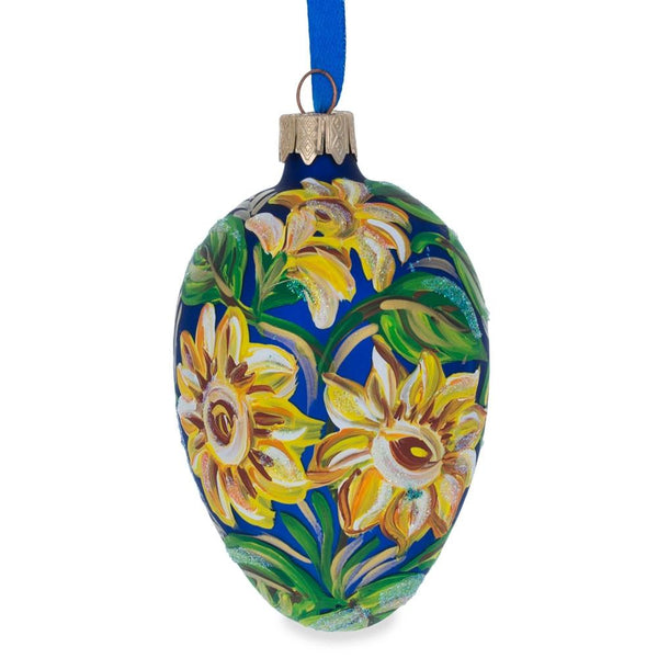 Ukrainian  Pysanka Egg Glass Ornament