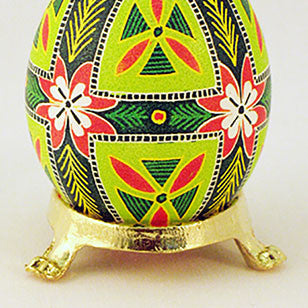 Plain Single Gold Egg Stand