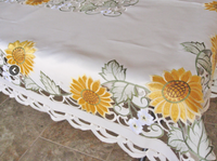 Cut Work  Embroidered  Tablecloths