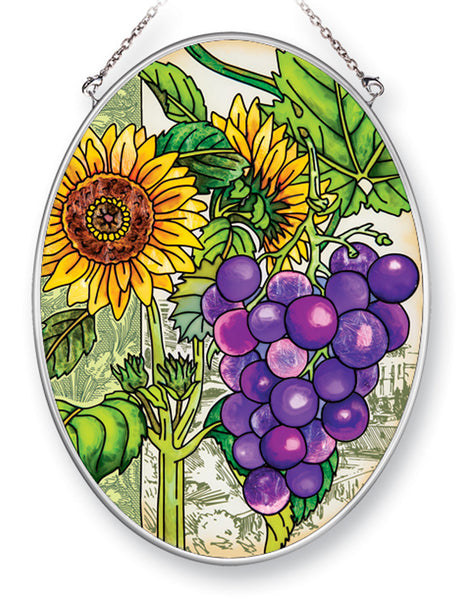 Sunflower and Grapes Suncatcher