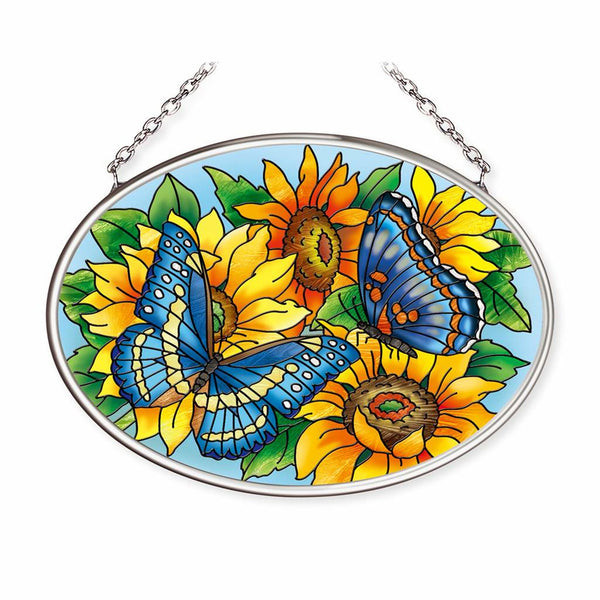 Butterflies on Sunflowers Suncatcher