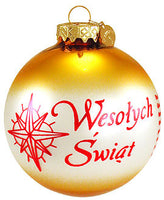 Poland Christmas Custom Ornament