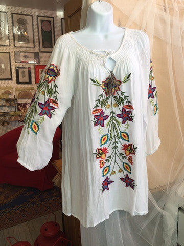 Ladies Multi Colored Embroidered Tunic