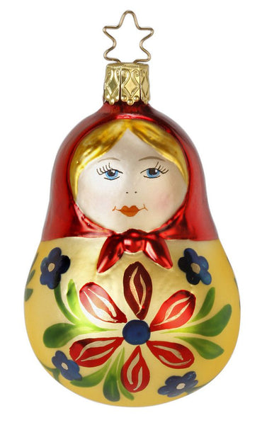 Inge Glas Matroschka Lady -   German Christmas Ornament