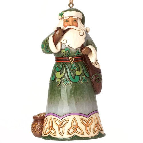 Celtic Irish Santa Hanging Ornament
