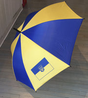 Ukrainian Umbrella with Tryzyb and Flag