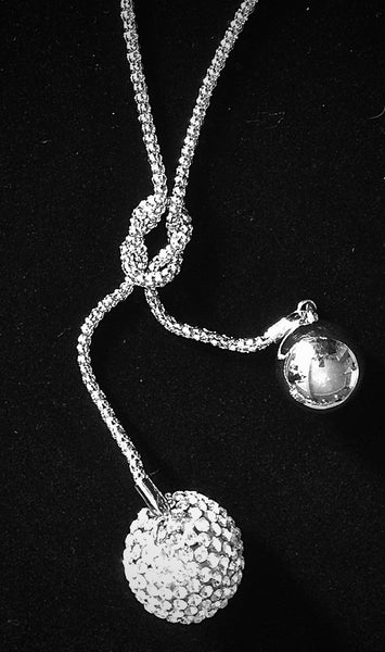 Lariat Ball Pendant Necklace Set