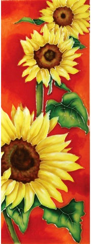 Sunflowers in the Sun Benaya Art Tile