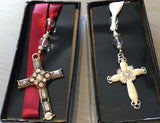 Enameled Cross Bookmark