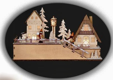 Wooden Alpine Village