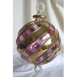 Gold and purple Christmas tree ball