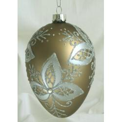 Soft Green Egg shaped Glass Christmas ornament