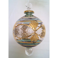 Egyptian glass Christmas tree ball with gold