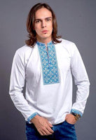 Men's Vyshyvanka Embroidered Knit Shirt