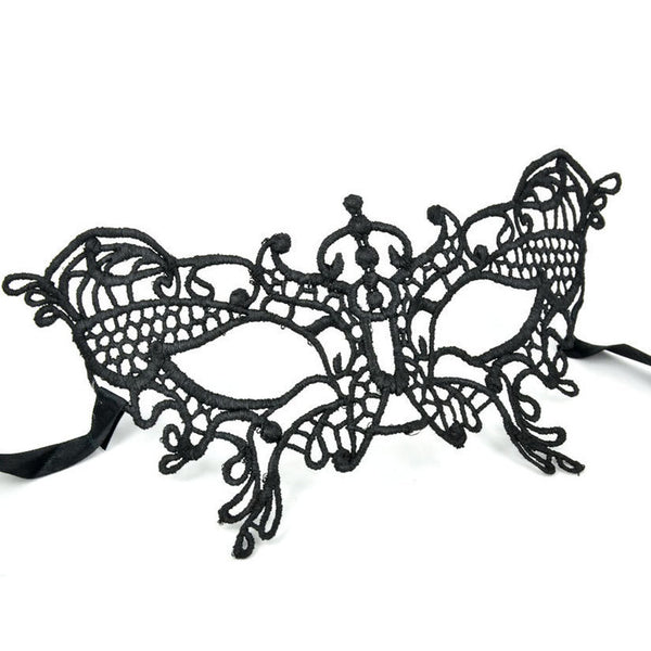 Jacqueline Kent Black Lace Mask
