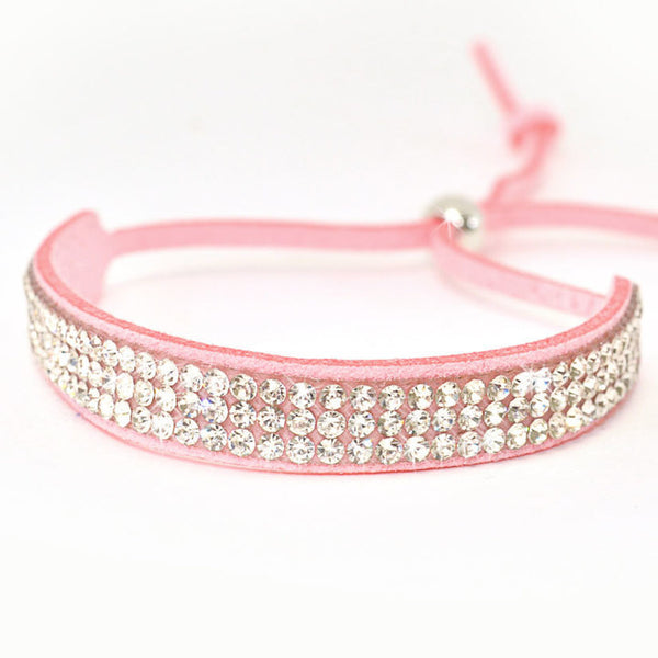 JK Crystal  Adjustable Slider Bracelet
