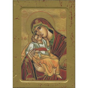 Mother and Child Wood Icon Plaque