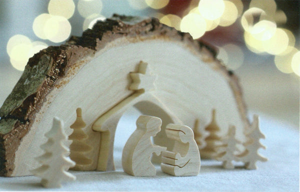 Nativity Scene Bark Puzzle I