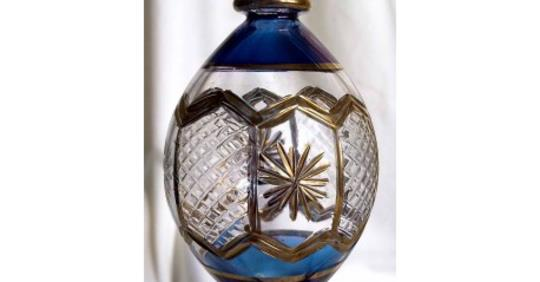 Egyptian glass Christmas Egg  with gold
