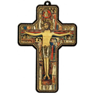 St.Damian Wood Laminated Cross