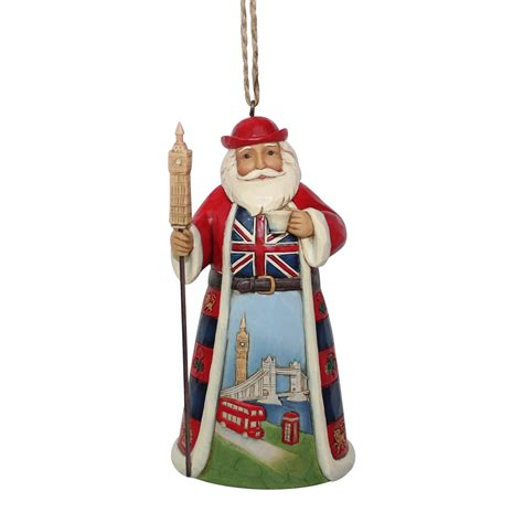 British Santa Hanging Ornament