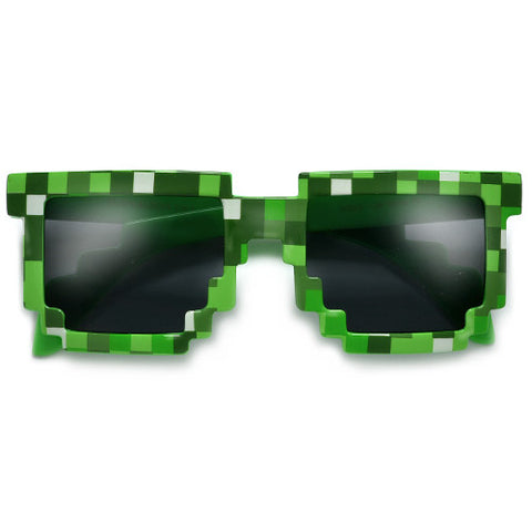 8-Bit Pixelated MineCraft Video Game Inspired Eyewear