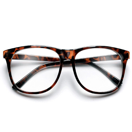 59mm Oversized Nerdy Clear Lens Thin Frame Glasses - Sunglass Spot