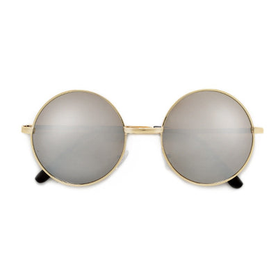 Vintage Lennon Inspired 45mm Small Round Thin Metal Sunglasses - Sunglass Spot