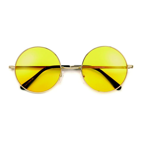 Retro Appeal Artistry Crafted Open Cut Out Temple Sunglasses