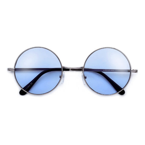 Retro 60's Inspired Colorful Lens Oval Sunglasses