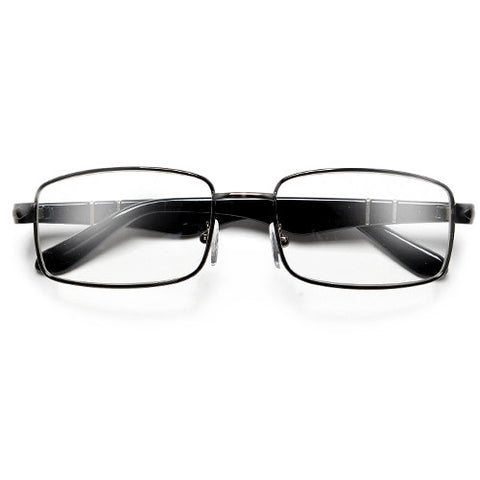 Ultra Light 52mm Rectangular Metal Frame Casual Wear Fashion Glasses