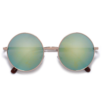 Vintage Lennon Inspired 45mm Small Round Thin Metal Sunglasses