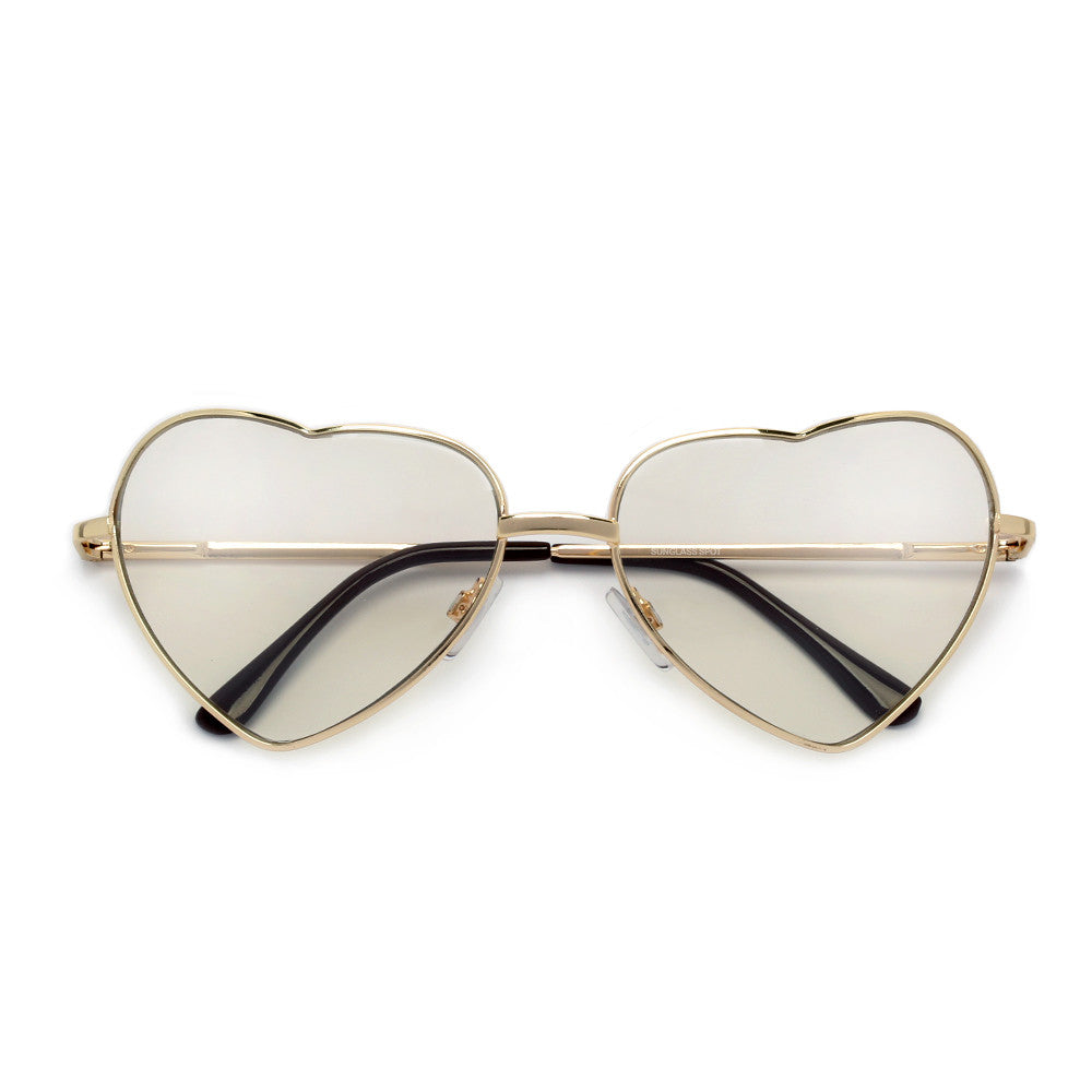 Adorable Sweet Heart Shaped Clear Eyewear